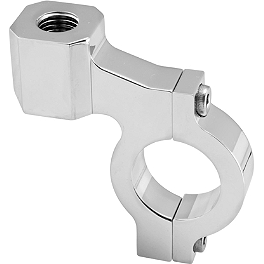 BikeMaster Handlebar Mirror Adapter Clamps - T4 - 2003 Honda CBR600F4I BikeMaster Polished Brake Lever