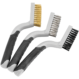 BikeMaster Mini Wire Brush Set - BikeMaster Scraper Wire Brush Set