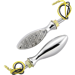 BikeMaster Mini Oval LED Turn Signals - 2005 Honda VTR1000 - Super Hawk BikeMaster Oil Filter - Chrome