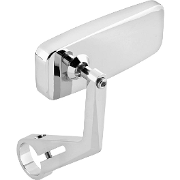 BikeMaster Wideview Bar End Mirrors - BikeMaster Tube 2.00/2.25-17 Straight Metal Stem