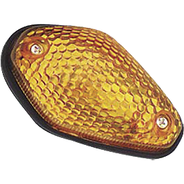 BikeMaster Mini Tear Drop Flush Mount Marker Light - Cat Eye Side Mount Turn Signal Amber