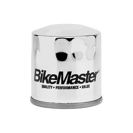 BikeMaster Oil Filter - Chrome - Main