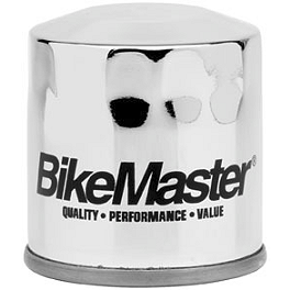 BikeMaster Oil Filter - Chrome - 2003 Honda VTX1800S Baron Air Injection Removal Kit - Honda