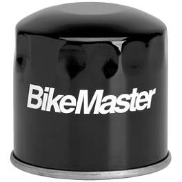 BikeMaster Oil Filter - Black - 2008 Yamaha Roadliner 1900 Midnight - XV19M Arlen Ness Battistini Round Rear Footpegs - Black