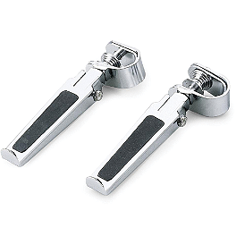 "BikeMaster Rubber Inlay Footpegs With 1"" Clamps - BikeMaster Classic Cruiser Mirror"