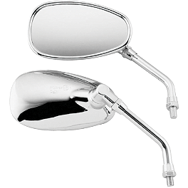 BikeMaster Chrome Replacement Mirror - 2005 Yamaha Road Star 1700 Midnight - XV17AM Kuryakyn Triceptor Fender Accent