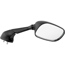 BikeMaster Black Replacement Mirror - Right - 2007 Yamaha FZ1 - FZS1000 BikeMaster Black Replacement Mirror - Left