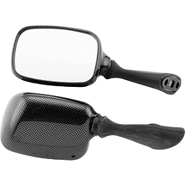 BikeMaster Carbon Look Replacement Mirror - Left - 2000 Suzuki GSX-R 750 BikeMaster Black Replacement Mirror - Left