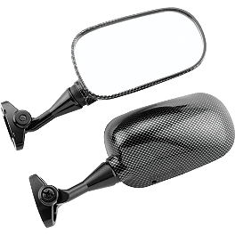 BikeMaster Carbon Look Replacement Mirror - Right - 2002 Honda CBR954RR BikeMaster Black Replacement Mirror - Left
