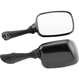 BikeMaster Carbon Look Replacement Mirror - Right - Targa Adjustable Mirrors
