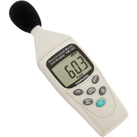 BikeMaster Tenmars Auto-Ranging Sound Meter - Main