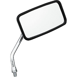 BikeMaster Stainless Mirror - BikeMaster Candy Drop Standard Black Mirrors