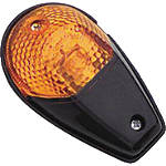 BikeMaster Universal Flush Mount Black Mini Marker Lights - Dirt Bike Lights and Electrical
