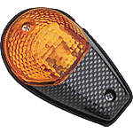 BikeMaster Universal Flush Mount Carbon Mini Marker Lights - Motorcycle Lights and Electrical