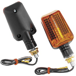 BikeMaster Universal Mini Stalk Black Mini Marker Lights - 1995 Honda VFR750F - Interceptor BikeMaster Brake Pads - Rear