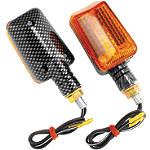 BikeMaster Universal Mini Stalk Carbon Mini Marker Lights -  Motorcycle Lights and Electrical