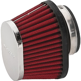 BikeMaster Universal Oval Air Filter - 1997 Kawasaki EX500 - Ninja 500 BikeMaster Oil Filter - Chrome