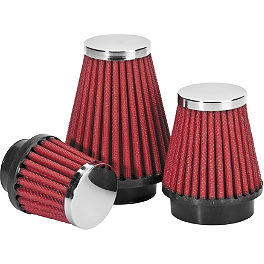 BikeMaster Universal Pod Air Filter - BikeMaster Mirror Set With LED Turn Signals