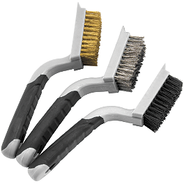 BikeMaster Scraper Wire Brush Set - BikeMaster Mini Double Wire Brush Set
