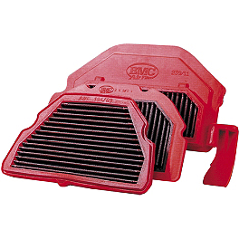 BMC Air Filter - 2008 Kawasaki ZX1400 - Ninja ZX-14 Powerstands Racing Air Injection Block Off Plate