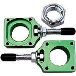Bolt Axle Blocks - Green - BOLT Motorcycle Hardware Dirt Bike Products
