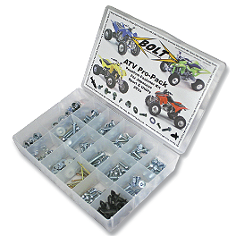 Bolt ATV Pro Pack - 225 Pieces - 2002 Yamaha BIGBEAR 400 2X4 Bolt Hardware Lug-Lock Lug Nuts - 14mm