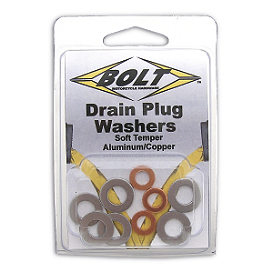 Bolt Drain Plug Sealing Washer Honda Kit - Assorted - Bolt Drain Plug Sealing Washer M8x15mm - 10 Pack