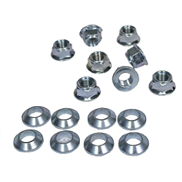 Bolt Hardware Lug-Lock Lug Nuts - 14mm - ITP Lug Nut Set - 10X1.25mm Thread 14mm Flat Head Chrome