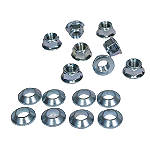 Bolt Hardware Lug-Lock Lug Nuts - 14mm - BOLT Motorcycle Hardware Dirt Bike ATV Parts