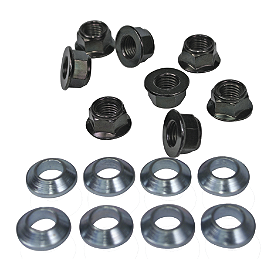 Bolt Hardware Lug-Lock Lug Nuts - 14mm - 2008 Kawasaki KFX90 ITP Lug Nut Set - 10X1.25mm Thread 14mm Flat Head Chrome