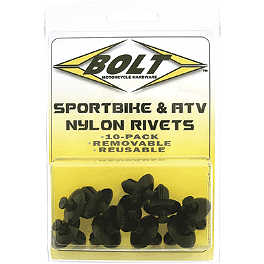 Bolt M8 Nylon Push Rivets - Lockhart Phillip Body Bushing Kit 10 Pack