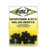 Bolt M8 Nylon Push Rivets - BOLT Motorcycle Hardware Motorcycle Parts