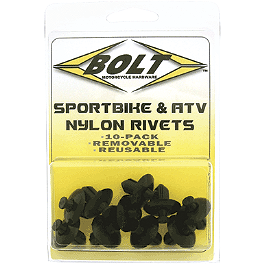 Bolt M8 Nylon Pry Rivets - Bolt Sportbike Track Pack