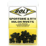 Bolt M8 Nylon Pry Rivets - BOLT Motorcycle Hardware Motorcycle Parts