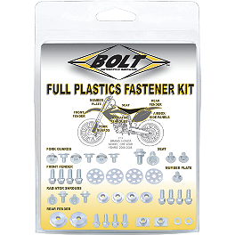Bolt Full Plastic Fastener Kit - 2004 KTM 125EXC Acerbis Fork Cover Set
