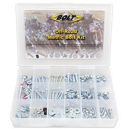 Bolt Off-Road Metric Bolt Kit - 2012 Kawasaki KLX140 Motion Pro Micro Fork Bleeders - Silver