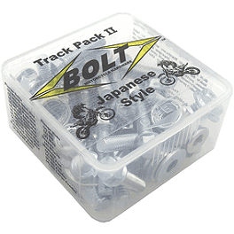 Bolt Japanese Track-Pack II - 1991 Suzuki LT-F160 QUADRUNNER 2X4 Rock E-Brake Block Off Plate - Flame