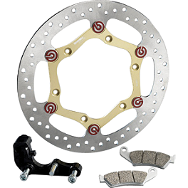 Brembo HPK Offroad Oversize Front Brake Rotor Kit - 2008 Honda CRF450X Galfer Wave Superlight Oversize Front Brake Rotor Kit