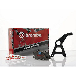 Brembo Super Sport Billet Rear Caliper Kit With Bracket - Brembo HPK Radial CNC Nickel Caliper Kit