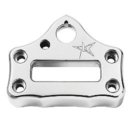 Blingstar Bar Clamp - Polished Aluminum - 2007 Honda TRX450R (KICK START) Blingstar Case Saver Cover - Anodized Black
