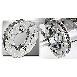 Blingstar Dual Sprocket Guards - Blingstar Factory Nerf Bars With Integrated Heel Guard - Polished Aluminum