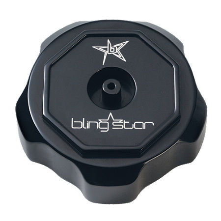 Blingstar Gas Cap - Anodized Black - Main