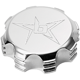 Blingstar Gas Cap - Polished Aluminum - 2006 Yamaha RAPTOR 700 Blingstar Gas Cap - Anodized Black