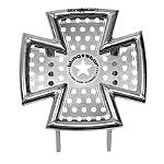 Blingstar Iron Cross Front Bumper - Polished Aluminum - Blingstar Dirt Bike ATV Parts