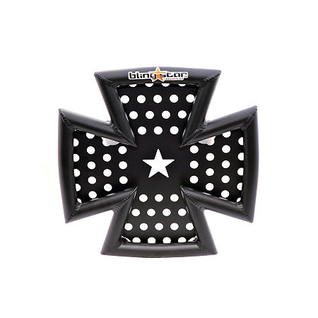 Blingstar Iron Cross Front Bumper - Textured Black - Main