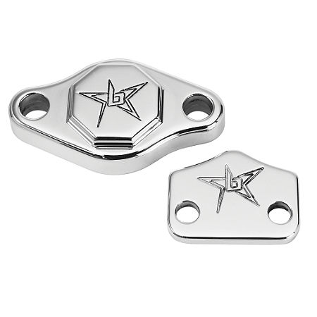 Blingstar Park Brake Block Off - Polished Aluminum - Main