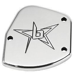 Blingstar Throttle Cover - Polished Aluminum - Blingstar Iron Cross Front Bumper - Polished Aluminum