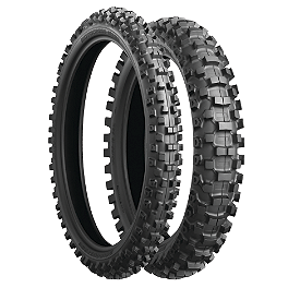 Bridgestone M203 Front Tire - 80/100-21 - 1985 Honda CR125 Bridgestone M404 Rear Tire - 100/100-18