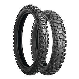 Bridgestone M603 Front Tire - 80/100-21 - 1987 Suzuki RM125 Bridgestone M404 Rear Tire - 100/100-18