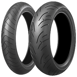 Bridgestone Battlax BT023 Tire Combo - Bridgestone Battlax BT016 Rear Tire - 160/60ZR17